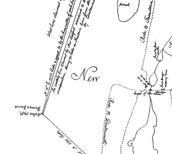 1795 Map of New Bedford - Mid West Section - www.WhalingCity.net