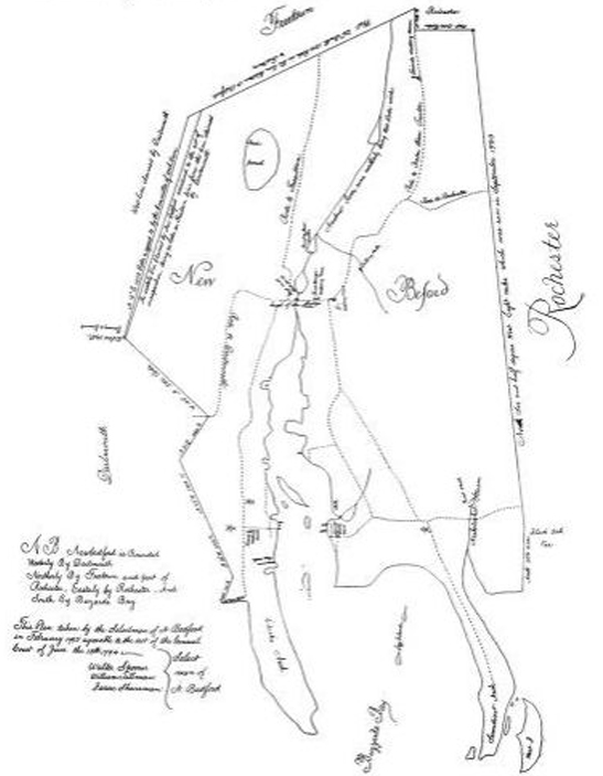 1795 map of New Bedford, Massachusetts - www.WhalingCity.net