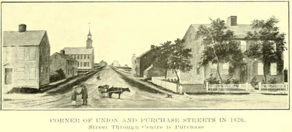 1774 scene - Union and Purchase Streets - New BEdford - www.whalingCity.net