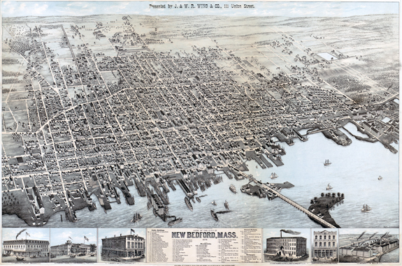 1876 Map of new BEdford with detail - www.WhalingCity.net