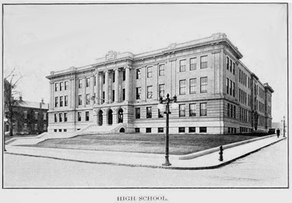 1909 new Bedford, Ma. High School - www.WhalingCity.net