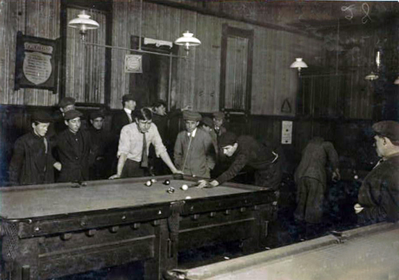 1912 Elm Pool Room New Bedford, Ma. - www.WhalingCity.net