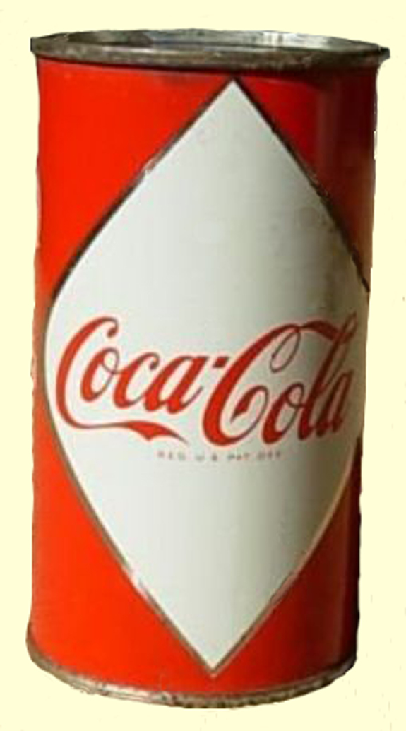 Coca Cola Can - 1960's - made in  New Bedford  - www.WhalingCity.net