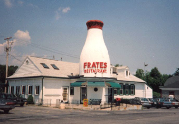 1970's Frates Bottle - New Bedford, Ma - www.WhalingCity.net