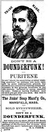 Don't be a Douderfunk - ad from Whalemen's Shipping List - New BEdford, Ma. - www.WhalingCity.net