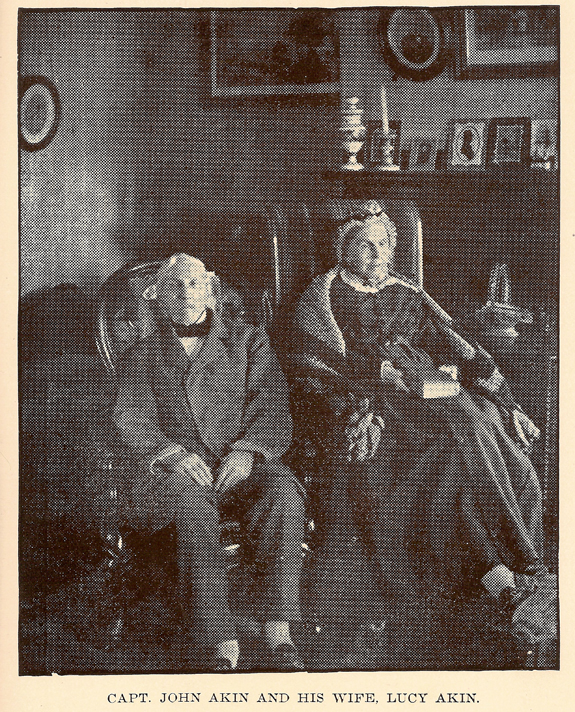 Captain John Akin and his wife Lucy Akin 1800's - www.WhalingCity.net