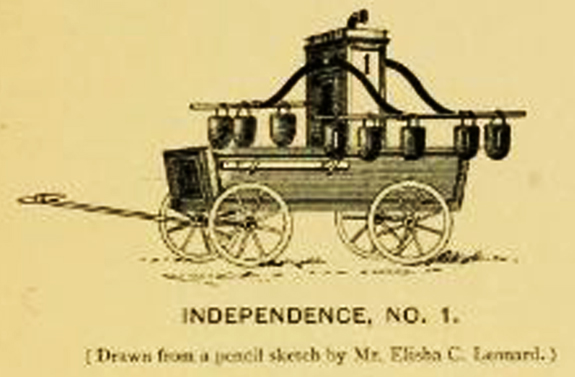 First Fire Engine Hand Pumper in New Bedford, Ma. - 1772 - www.WhalingCity.net