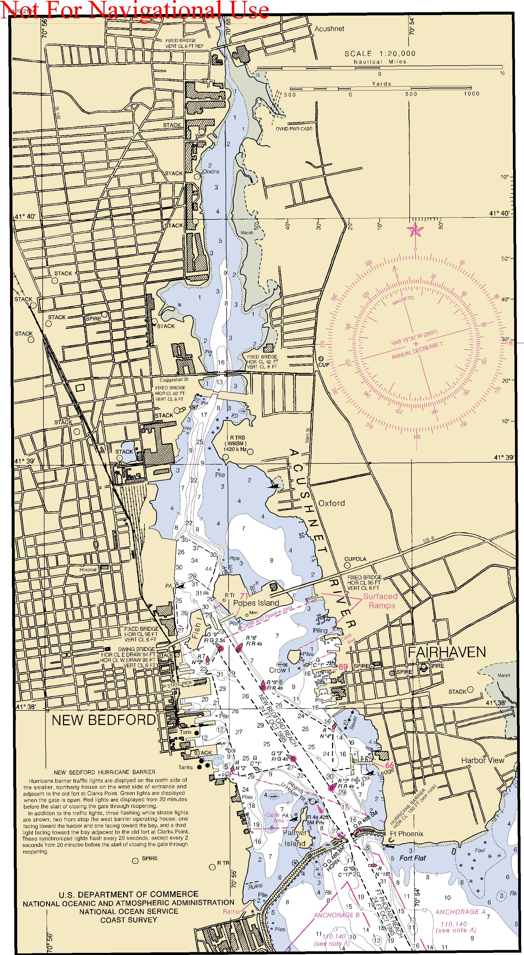 Map Nautical Chart New Bedford Harbor 1 wwwWhalingCitynet