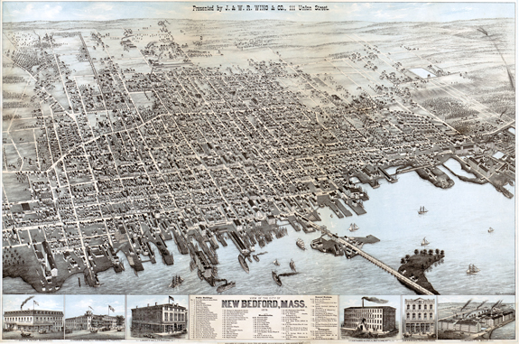 1875 Map of New BEdford, Massachusetts - www.WhalingCity.net