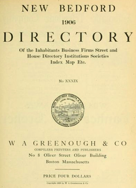 The New Bedford Directory - image 8