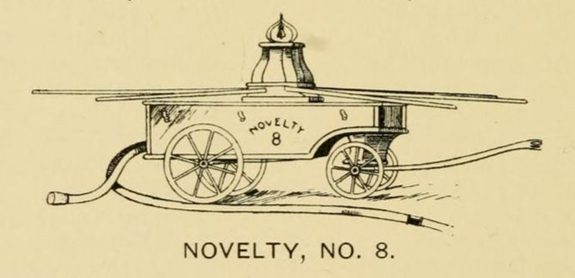 Novelty Number 8 - Fire Engine -1800's  New Bedford, Ma. - www.WhalingCity.net