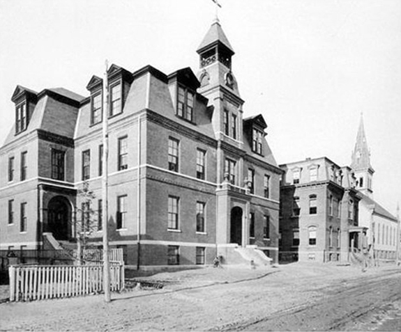 Sacred heart Shcool, Convent and Church - New BEdford, Ma. - www.WhalingCity.net