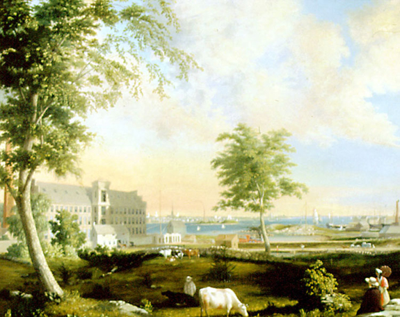 Wamsutta Mills 1853 painted by William Wall - www.WhalingCity.net